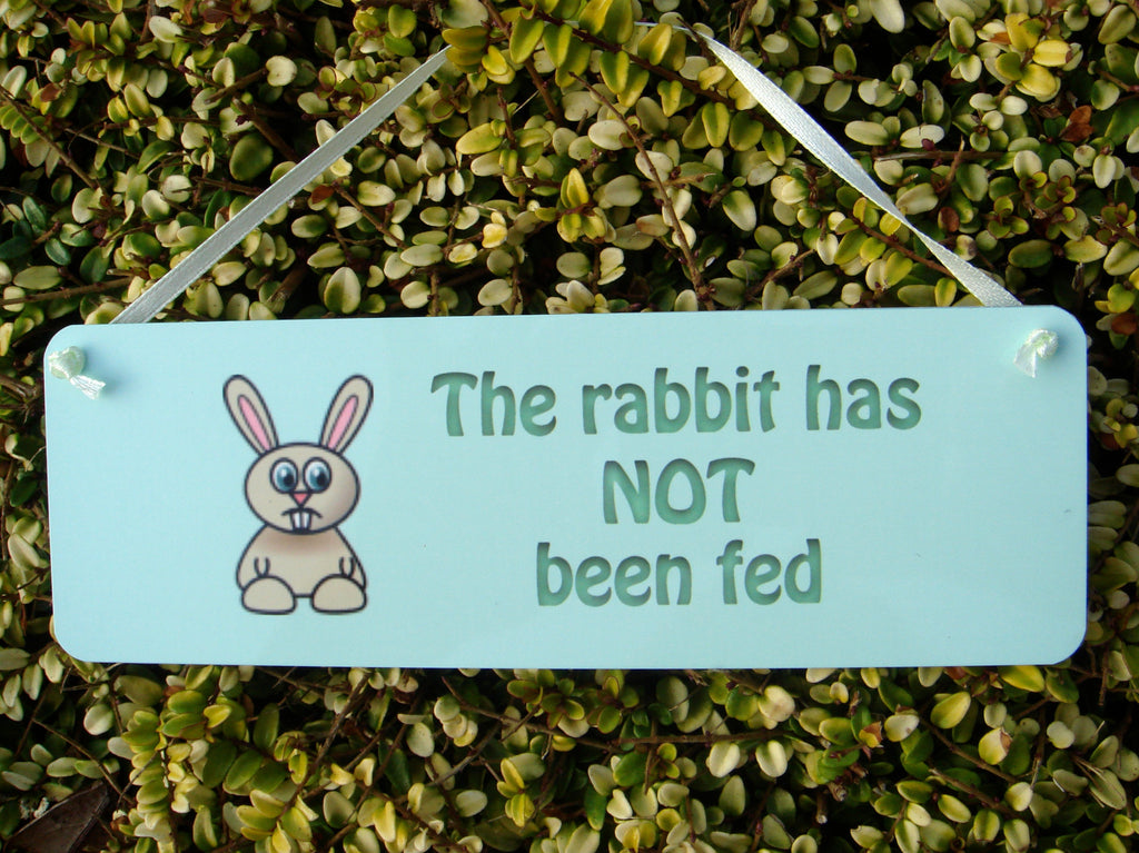The Rabbit has been Fed/Not Fed Reversible Personalised Sign