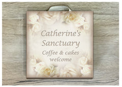 Square Vintage Romance Custom-Made Blank Signs: Add your own wording