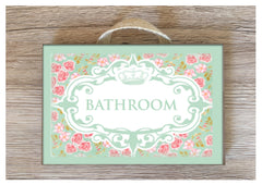Room name signs in wood or metal.  Handmade at www.honeymellow.com