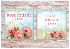 ROSE SQUARE SIGN TO ADD YOUR OWN TEXT AT HONEYMELLOW