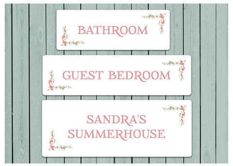 ROSEBUD Room Signs OR Add Your Own Text