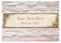 Rustic Roses Shabby Chic Custom- Made Wooden Vintage Door Sign at Honeymellow
