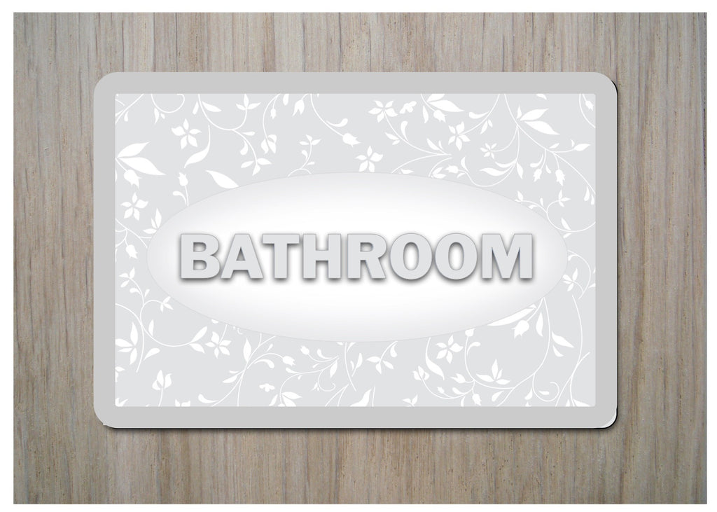 Bathroom Cottage Chic Sign at Honeymellow or Add Your Own Text