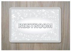 Restroom Cottage Chic Sign at Honeymellow or Add Your Own Tex