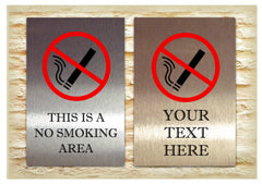 This is a No Smoking Area Sign or Own Text Option from www.honeymellow.com