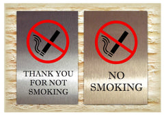 Thank you for not smoking / No Smoking Bespoke Signs from www.honeymellow.com