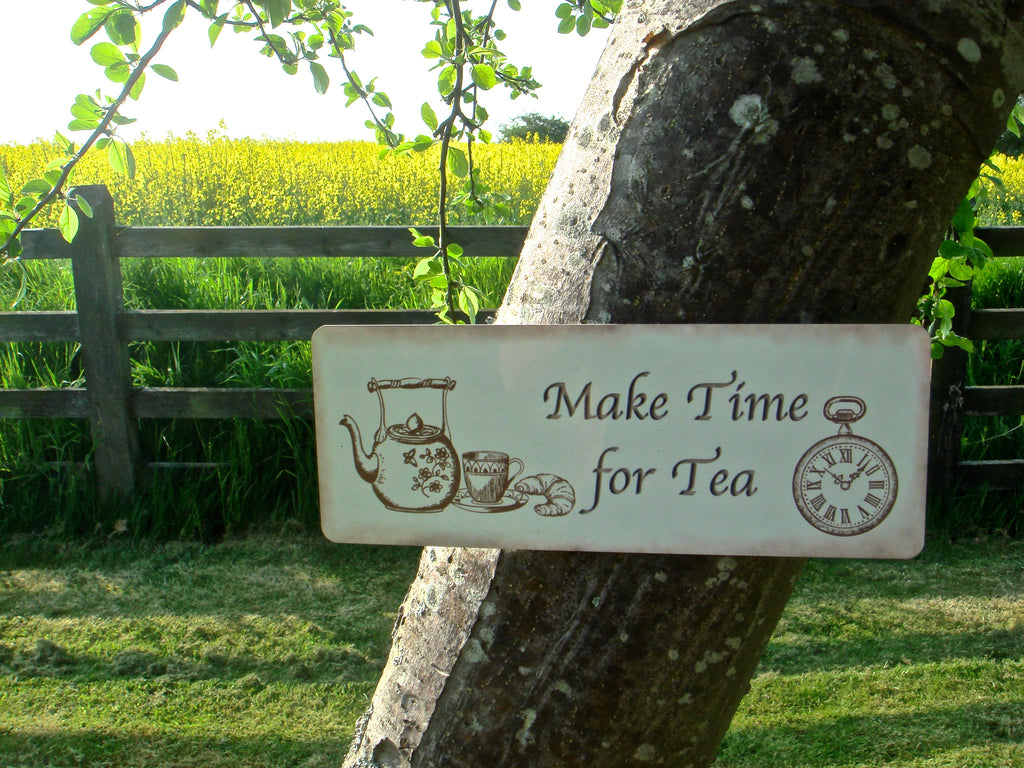 Make time for tea sign from Honeymellow