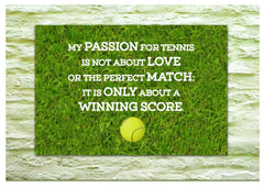Love Winning Inspirational Tennis Quotation Metal Sign.  Buy Online at www.honeymellow.com