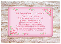 Add Your Own Text to our Pink Rose Signs