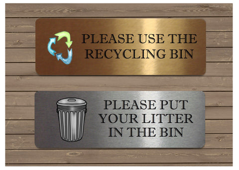 Silver, Gold or White Metal Litter and Recycling Vital Signs