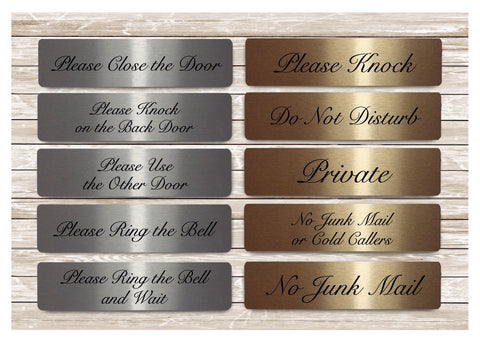 Elegant Vital Signs in Silver, Gold or White Metal for the Home or Office: 20x5cm (Large)