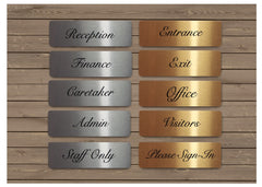 Brushed Elegant Silver & Gold Vital Signs for Home or Office at Honeymellow