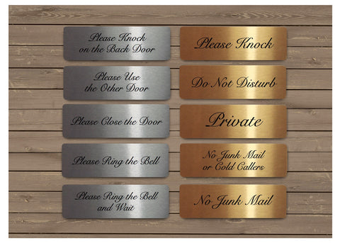 Elegant Vital Signs in Silver, Gold or White Metal for the Home or Office: 15x5cm (Small)