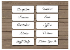Brushed Elegant Silver, White & Gold Vital Signs for Home or Office at Honeymellow