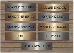 No Junk Mail Cold Callers Please Knock Ring Bell + Add Own Text Metal Vital Signs from www.honeymellow.com