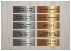 Brushed Silver & Gold Vital Signs for Home or Office at Honeymellow