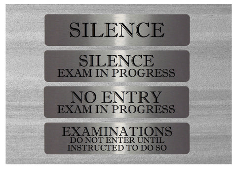 Vital Signs: Silence Examinations Silver Warning Signs