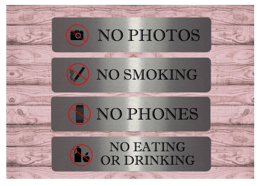 No Phones, Smoking, Photos, Eating or Drinking Vital signs from Honeymellow