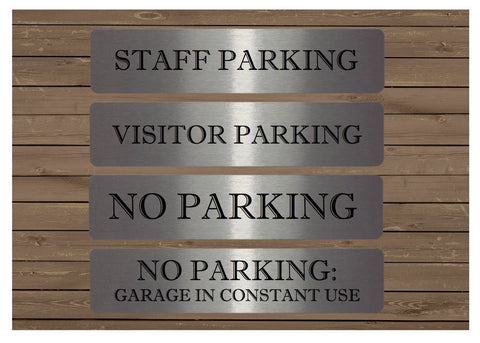 Vital Signs: No Parking & Garage in Constant Use Silver Signs