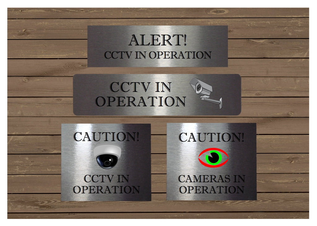 VITAL SIGNS: CCTV Surveillance Cameras in Operation Silver Metal Sign