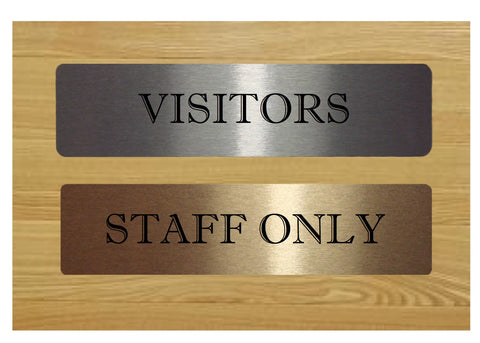 Vital Signs: Staff Only / Visitors Silver Sign