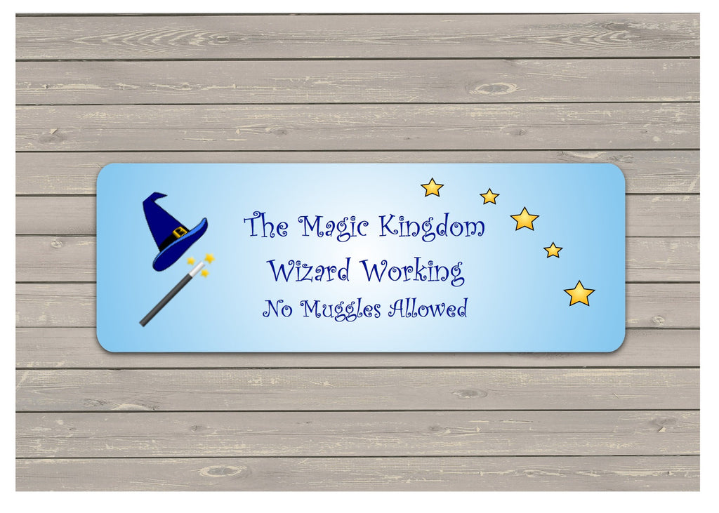 custom made wizard sign personalised for children s room at