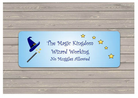 Personalised Wizard Bedroom Door Sign