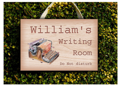 Writing Room Wood Effect Rustic Metal or Wood Sign
