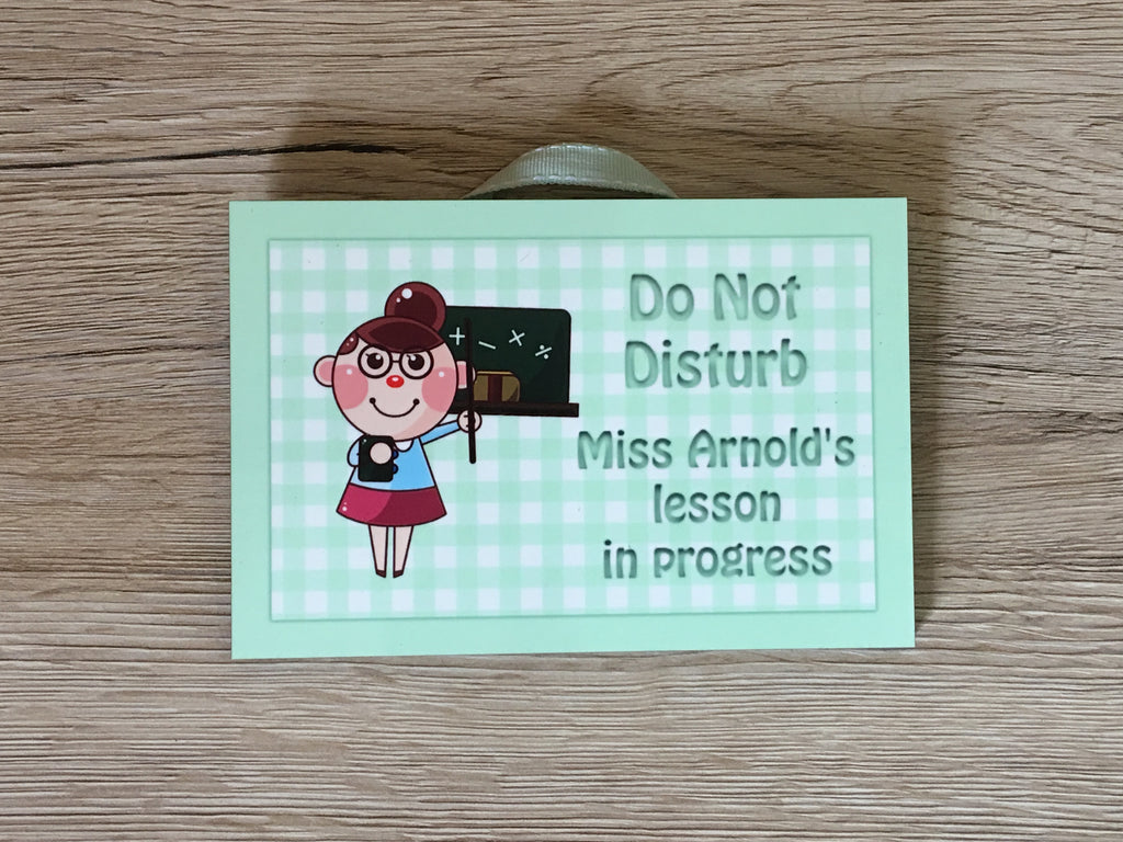 Lesson in Progress Metal Sign & Personalised Option: Custom Made at www.honeymellow.com