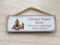 Chieftan Camping Themed Child's Door Sign Personalised by www.honeymellow.com