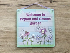 Garden or Summerhouse Sign in Wood or Metal: Add Your Own Text