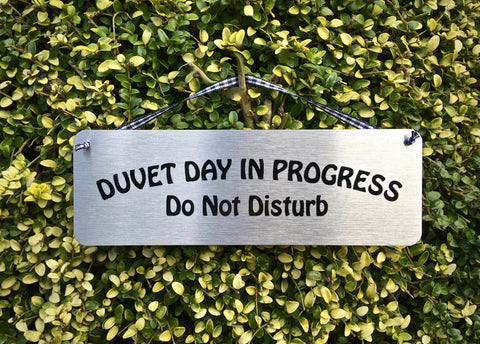 Shh! Do Not Disturb & Duvet Day Sleeping Hanging Signs: Personalised Option