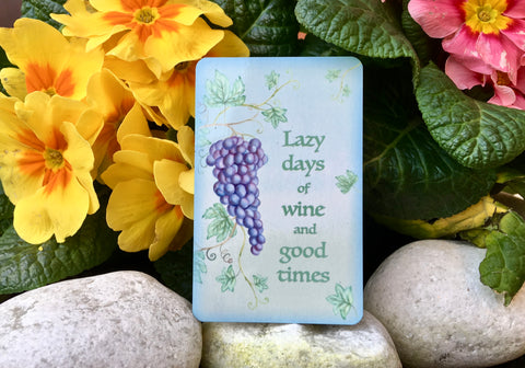 Wine Inspiring Quotation Plaque: Grape Metal or Wood Sign + Own Text Option