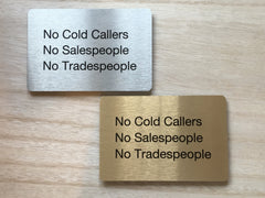"Add Your Own Text to 15x10cm / 6x4"" Blank Metal Signs in Silver, Gold & White"
