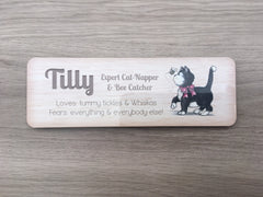 Cat Name Signs: Personalised Metal Plaques