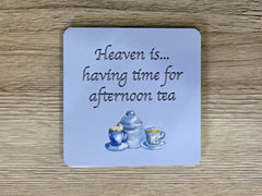 Heaven is... having time for afternoon tea: metal sign