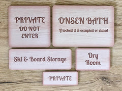 Add Your Own Text Blank Rustic Wood Effect Coloured Metal Signs: Various Sizes