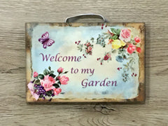 'I'm in the Garden'  Rustic Butterfly A5 Size  + Add Your Own Text