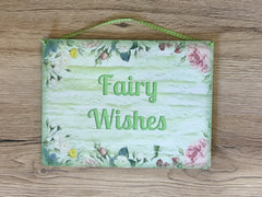 Add Your Own Text to our Fairy Garden Blank Sign in Wood or Metal