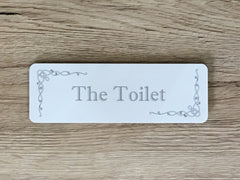 Room Plaques: Silver Design with Add Your Own Text Option