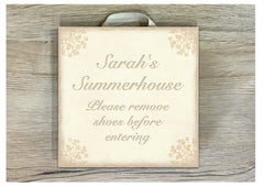 Add Your Own Text to Cream Damask Shabby Chic Blank Signs