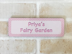 Add Your Own Text to Dotty Blank Signs in Yellow, Green, Pink or Blue