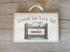 Cat has been Fed Reminder Rustic Sign: Custom-Made Personalised Wooden Plaque