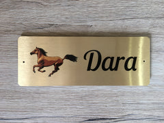 Horse Sign Personalised Metal Stables Plaque