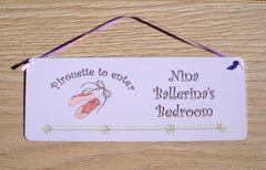'Personalised Ballet Dancer Bedroom Door Sign