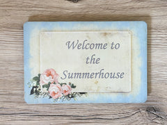 Add Your Own Text to Vintage Blue Shabby Chic Blank Signs