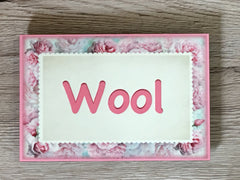 Add Your Own Text to our Blush Rose Blank Sign in Wood or Metal