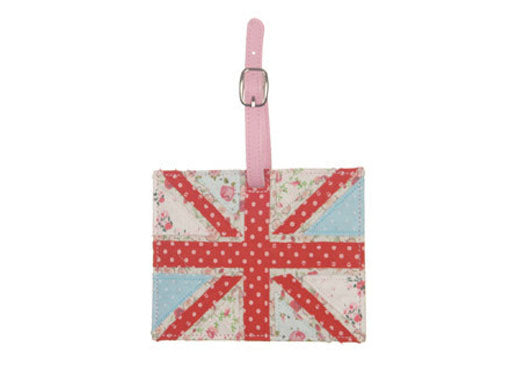 Union Jack Shabby Chic Luggage Tag at Honeymellow