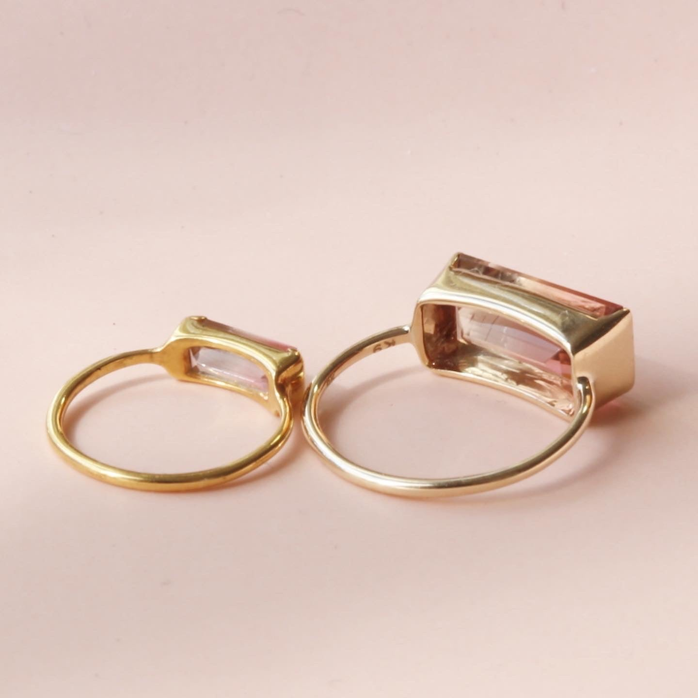 custtomer order<br>バイカラートルマリン<br>mom&baby ring