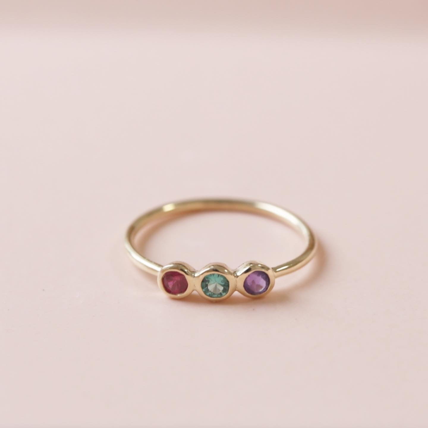 customer order<br>family birth stone<br>ring